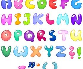 Cute cartoon Alphabet letter and Digital vector art 01