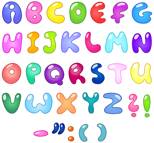 Cute Cartoon Alphabet Letter And Digital Vector Art 01