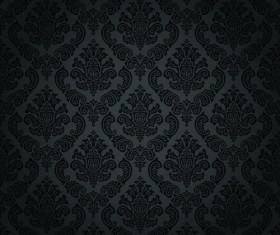 luxurious Black Damask Patterns vector 01