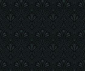 luxurious Black Damask Patterns vector 03