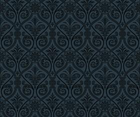 luxurious Black Damask Patterns vector 05
