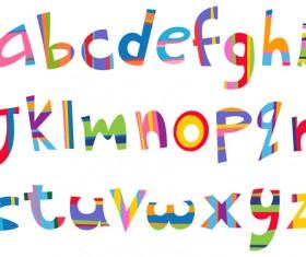 Different alphabet elements vector graphics 02