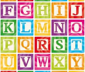Different alphabet elements vector graphics 03