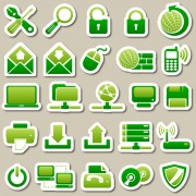 Link toDifferent green icon vector set 01