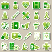 Link toDifferent green icon vector set 02