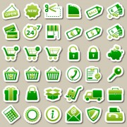 Link toDifferent green icon vector set 03