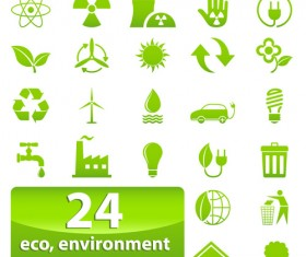 Eco with Bio elements of Stickers and icon vector 04