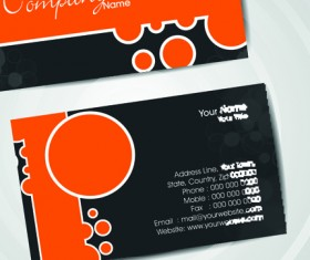 Set of Flyer cover and business card vector 03