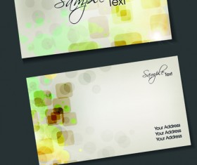 Set of Flyer cover and business card vector 05