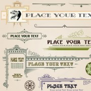 Link toSet of frame, border, ornament element in vintage style vector 01
