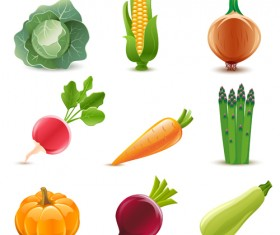 Elements of Various Glossy fruit vector 05