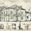 Hand drawn vintage cafe vector 02