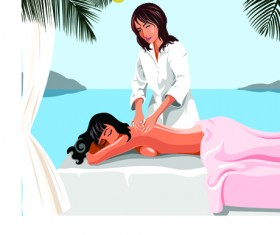 Elements of Female Massage vector 03