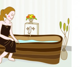 Elements of Female Massage vector 04
