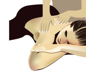 Elements of Female Massage vector 05