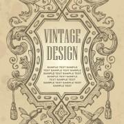 Link toElements of vintage frames vector set 03