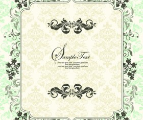 Ornate Vintage Floral vector Backgrounds art 03