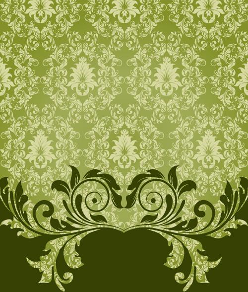 Ornate Vintage Floral vector Backgrounds art 04