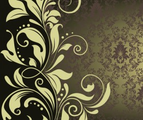 Ornate Vintage Floral vector Backgrounds art 05
