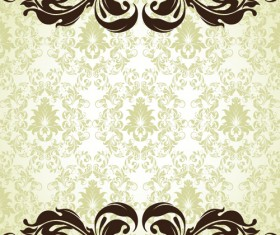Ornate Vintage Floral vector Backgrounds art 06