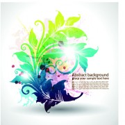 Link toPretty and colorful floral elements backgorund vector 03