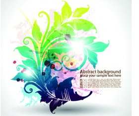 Pretty and colorful floral elements backgorund vector 03