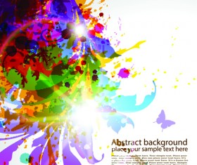 Pretty and colorful floral elements backgorund vector 04
