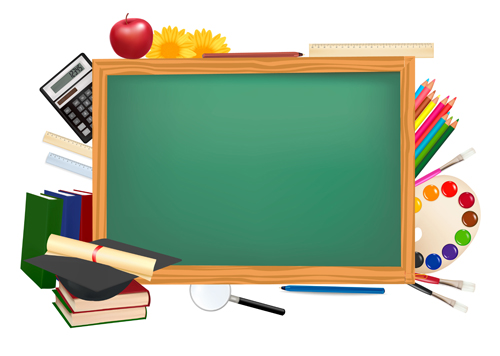 375a37a729e Set of back to school elements background vector 03 – Over millions ...