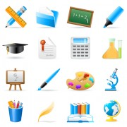 Link toSet of back to school elements icon vector 04