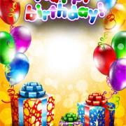 Link toSet of happy birthday postcards design elements vector 02