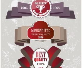 Set of Quality guaranteed vector Labels 01