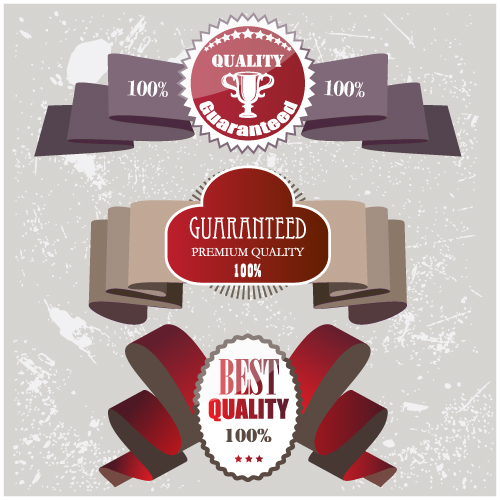 Set of Quality guaranteed vector Labels 01