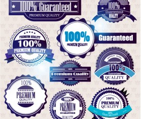 Set of Quality guaranteed vector Labels 02