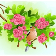 Link toVivid open flowers vector 02
