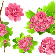 Link toVivid open flowers vector 03