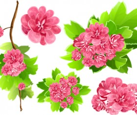Vivid Open flowers vector 03