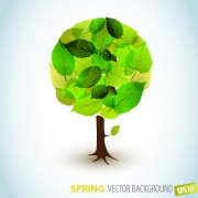 Link toDifferent spring tree elements vector 02