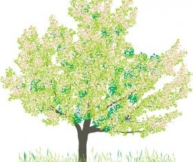 Different Spring tree elements vector 03