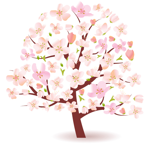 different spring tree elements vector 04 free download tree of life vector free download tree of life vector clip art