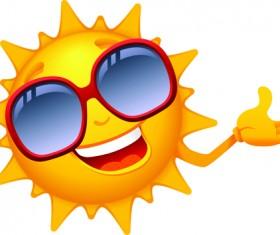 Elements of Summer Sun vector art 01