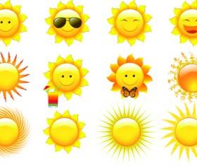 Elements of Summer Sun vector art 02