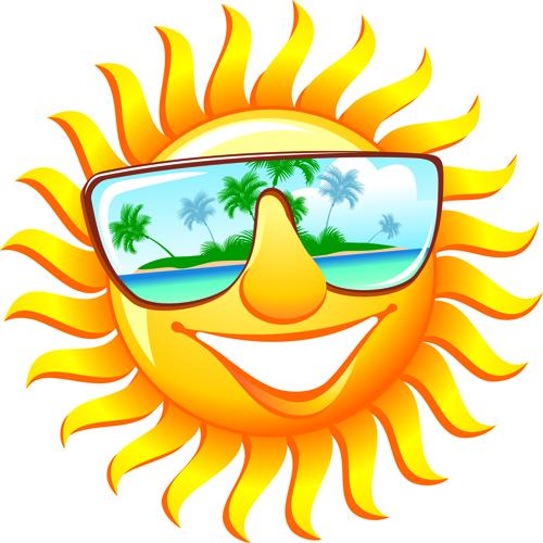 Elements of Summer Sun vector art 03