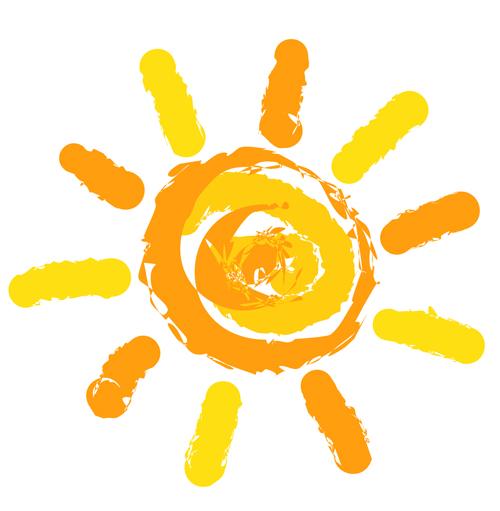 Elements of Summer Sun vector art 06