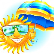 Link toElements of summer sun vector art 07