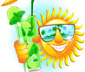 Elements of Summer Sun vector art 08