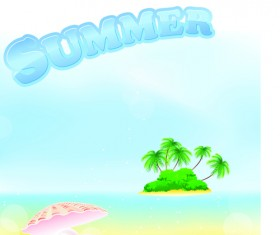 Summer Tourism illustration vector 01