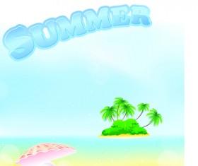 Summer Tourism illustration vector 01