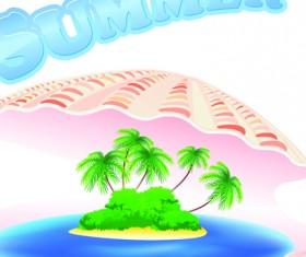 Summer Tourism illustration vector 02