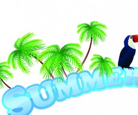Summer Tourism illustration vector 03