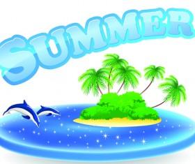Summer Tourism illustration vector 05